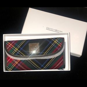 Dooney & Bourke Tartan Continental Clutch Wallet